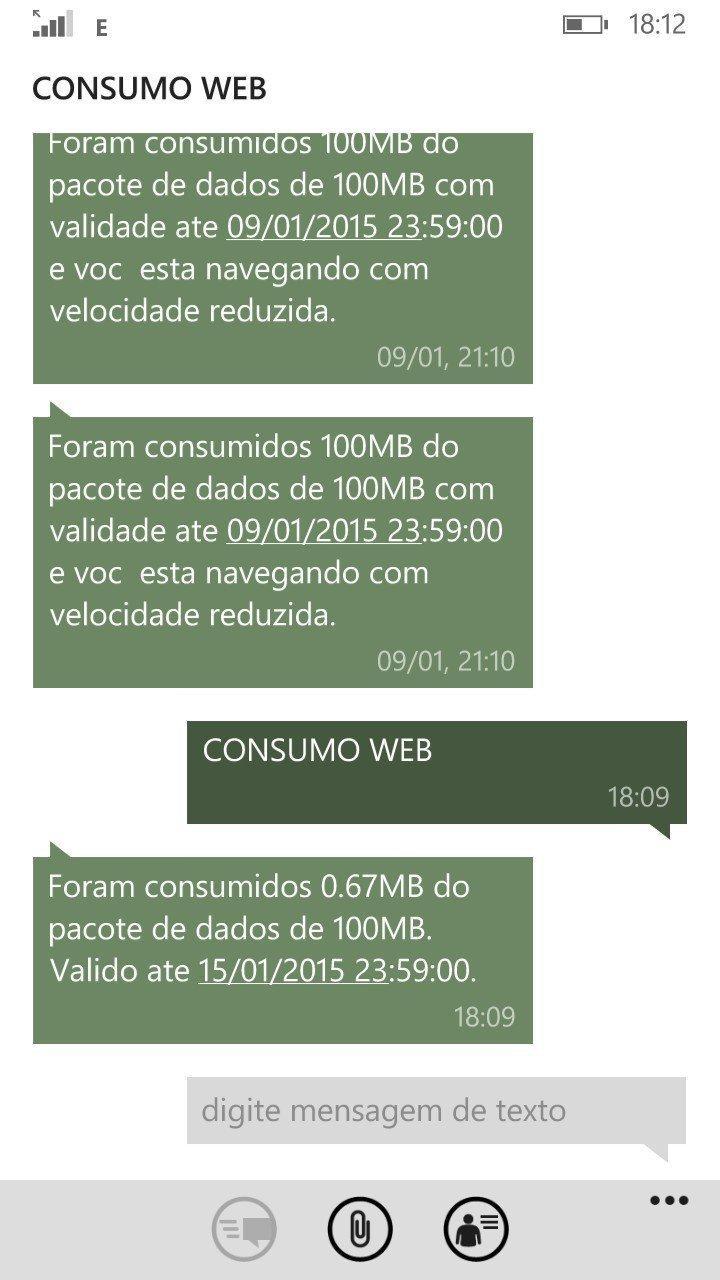 Tim consulta consumo web