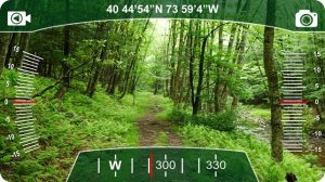 visão da UI do HERE no Vuzix M100