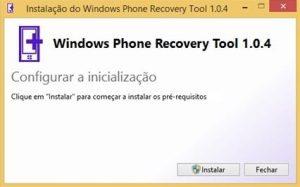 Windows Phone Recovery Tool header