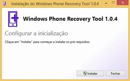 Windows Phone Recovery Tool header