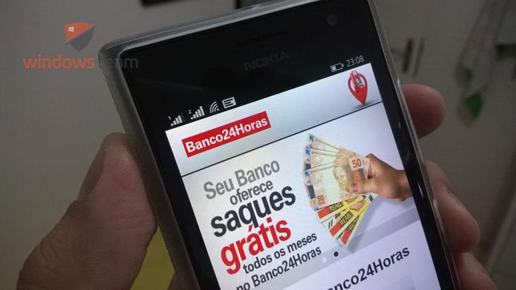 banco24horas windows phone header