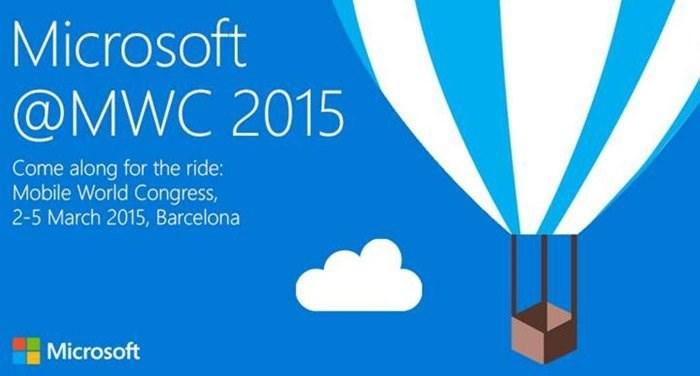 Convite da Microsoft para a MWC 2015