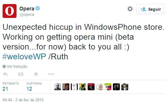 Opera Minia browser