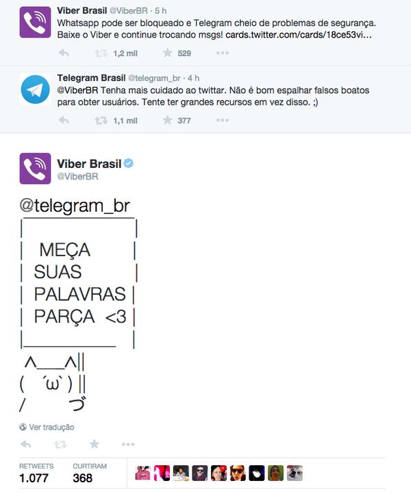 telegram e viber twitter