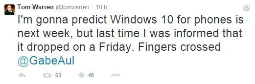 tweet tom warren windows 10