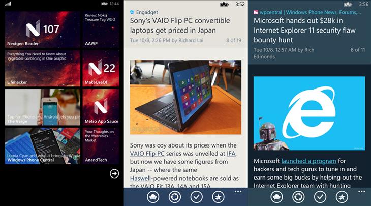 Nextgen reader windows phone