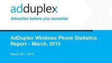 Relatório de março da AdDuplex mostra que no Brasil mais de 62% dos aparelhos com Windows Phone são de baixo de custo