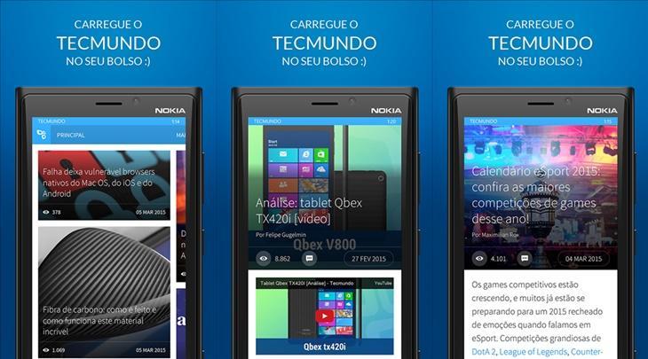 tecmundo aplicativo windows phone