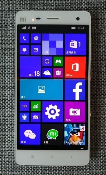 Suposta imagem de um Xiaomi Mi4 rodando o Windows