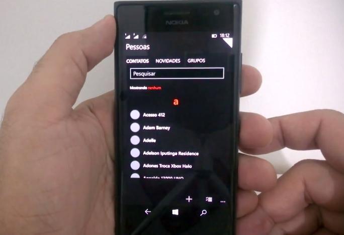 Novo Hub de Contato no Windows 10 para smartphones