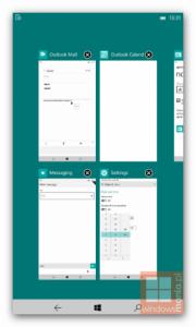 multitarefa windows 10 phablets