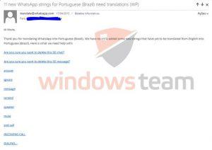 whatsapp email translator windows phone