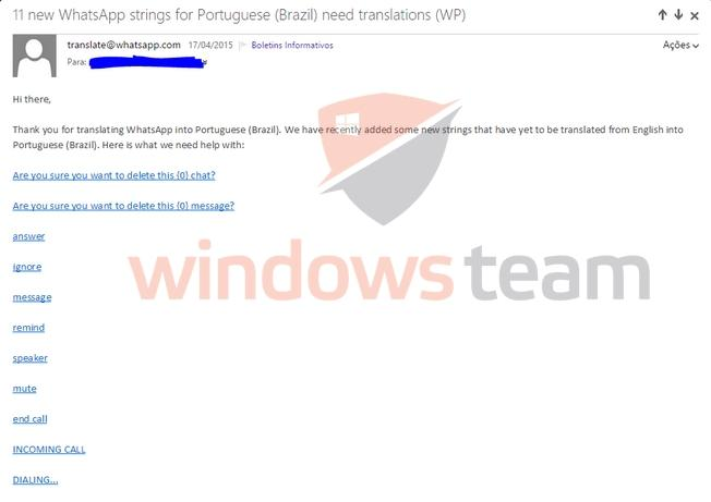 whatsapp email translator windows phone