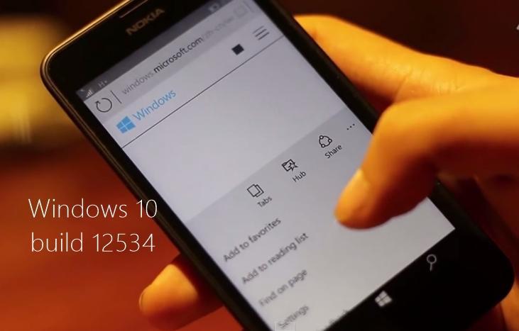 windows 10 build 12534