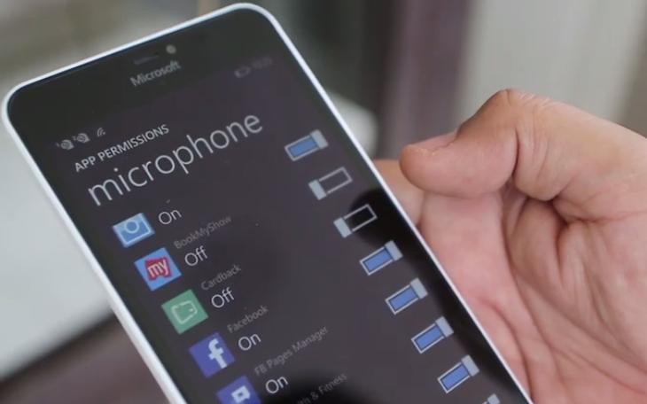windows phone 81 update 2 app permissions