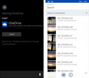 Cortana OneDrive windowsphone