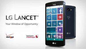 O LG Lancet com Windows Phone 8.1 é o mais recente modelo da marca com Windows que foi lançado apenas nos EUA em 2015 e para uma operadora específica