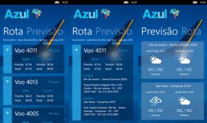 azul status do voo windows phone