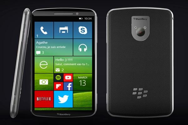 Montagem de um Blackberry Win18 com Windows Phone