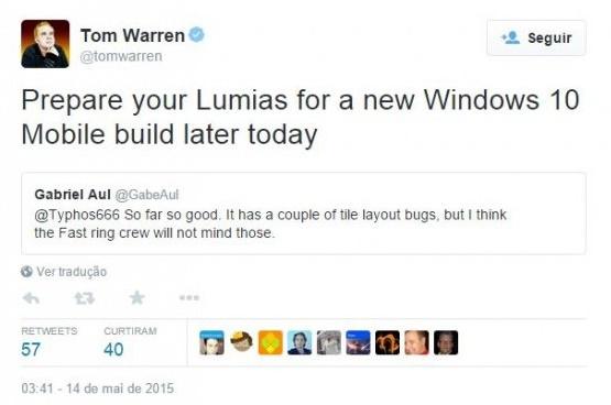 build windows 10 tweet tom warren