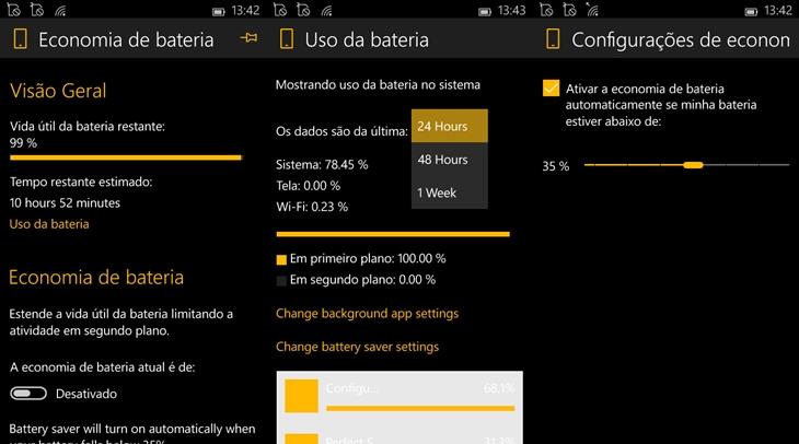 economia de bateria windows 10 mobile img
