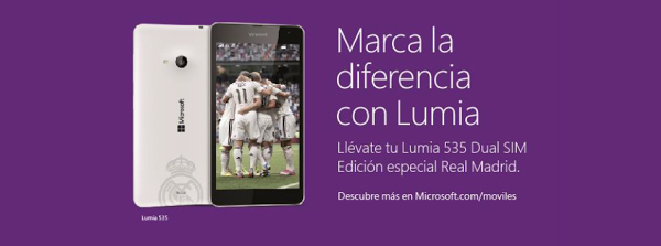 lumia 535 real madrid