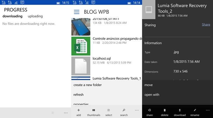 Onedrive app windows 10 mobile img2