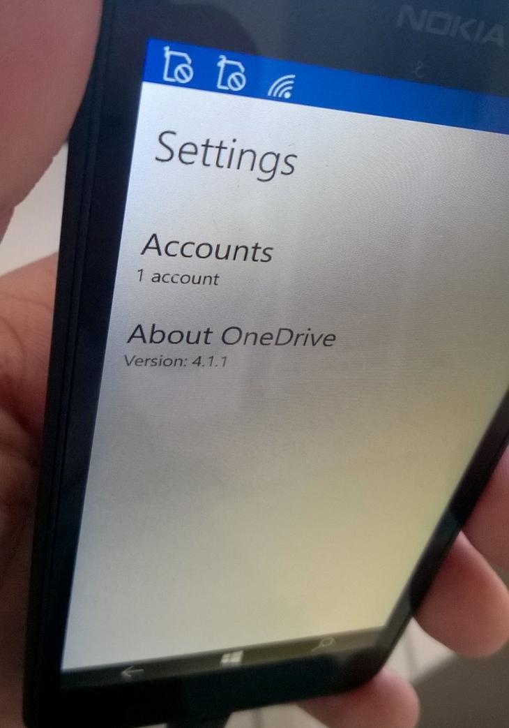 Onedrive windows 10 mobile img1