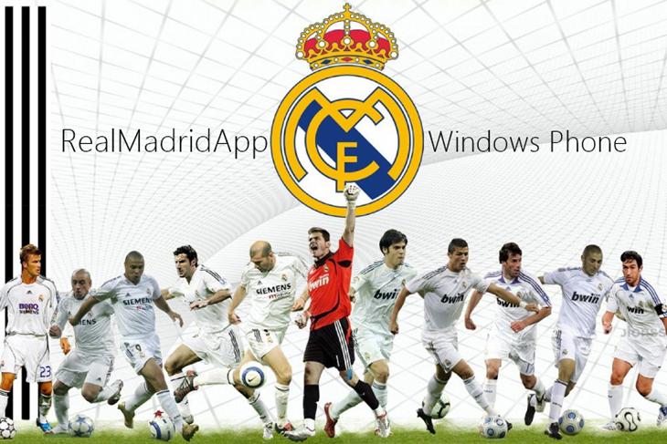 real madrid app windows phone header