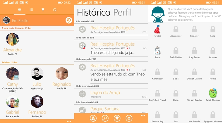 swarm foursquare windows phone