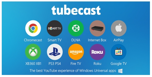 tubecast windows and windows phone app