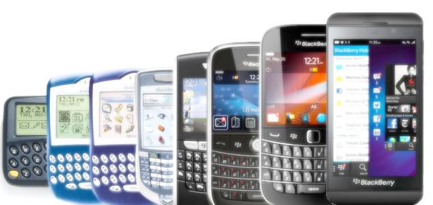 Evolução dos aparelhos e do SO utilizado nos mesmos