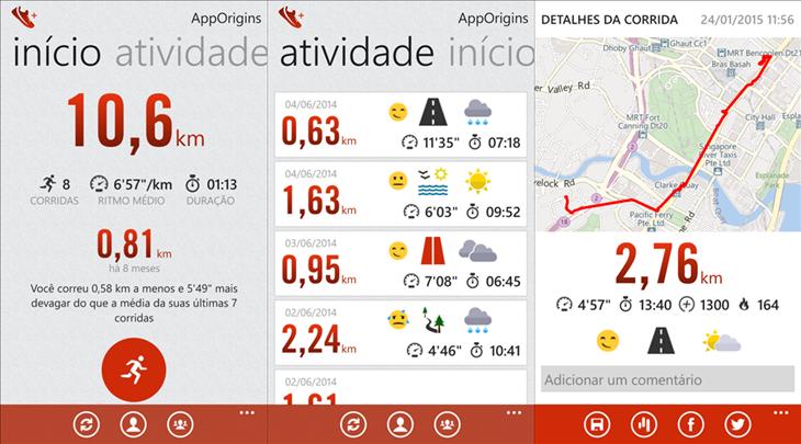 Run+ windows phone Nike+
