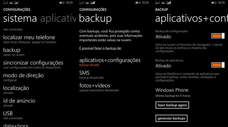 Backup no Windows Phone 8.1