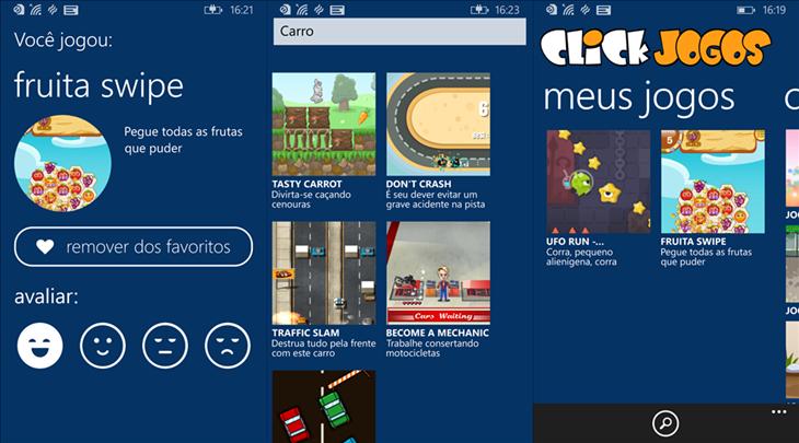 click jogos windows phone