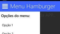 [Desenvolvimento] Menu hamburger com XAML e C#