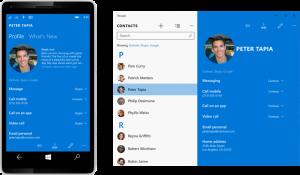 Pessoas app windows 10 mobile