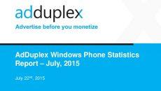 Confira as informações do relatório de julho da AdDuplex