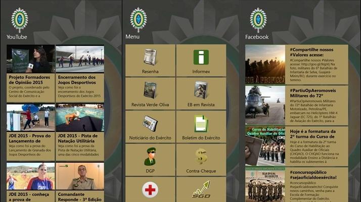 exercito brasileiro app windows phone 3