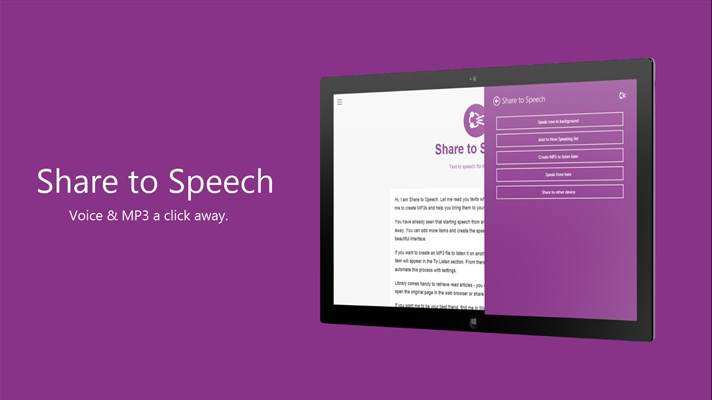 share to speech windows phone 1