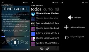 share to speech windows phone