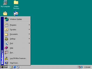 Desktop do Windows 98
