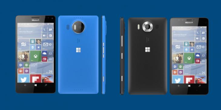 Suposta imagem renderizada dos Lumias 950 XL e do 950