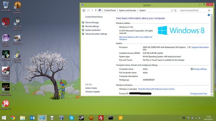 Start Screen do Windows 8.1 – Aparentemente nada mudou em relação ao Windows 8
