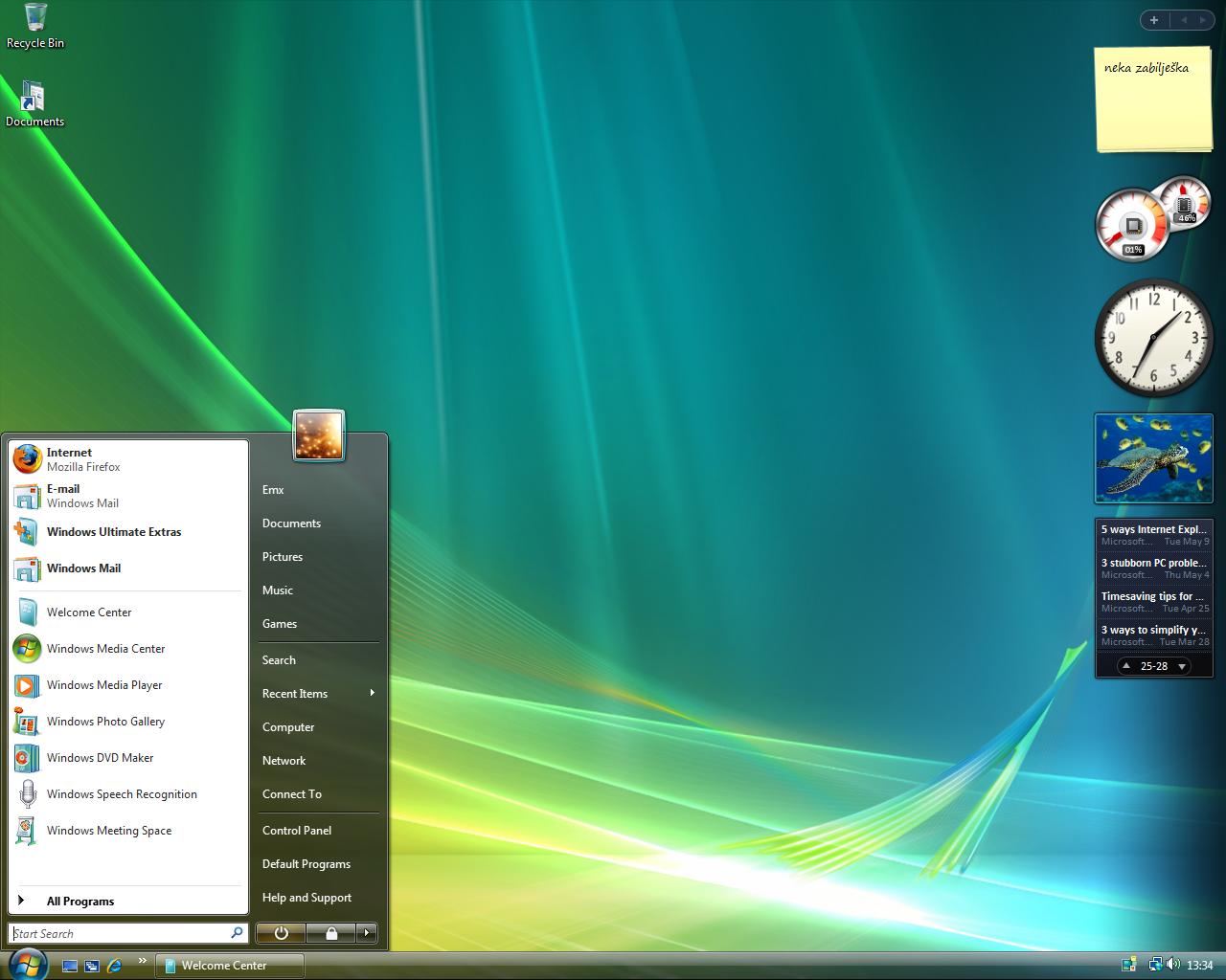 desktop windows vista