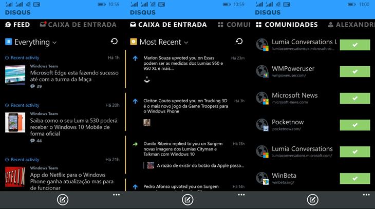 disqus app beta windows phone