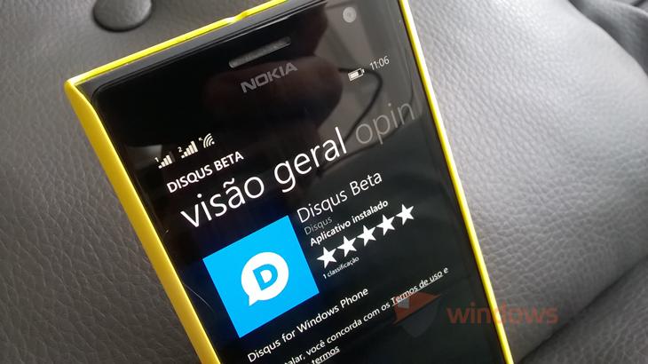 disqus app beta windows phone header