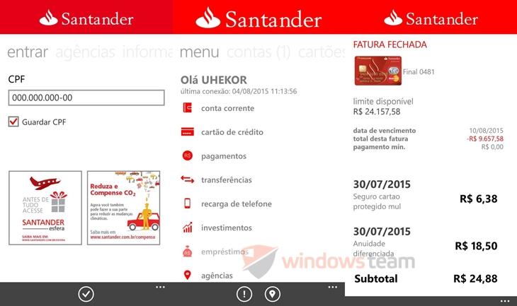 santander app oficial winows phone 1