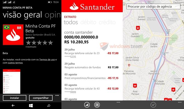 santander app oficial winows phone 2