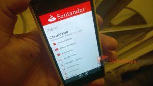 santander windows phone app